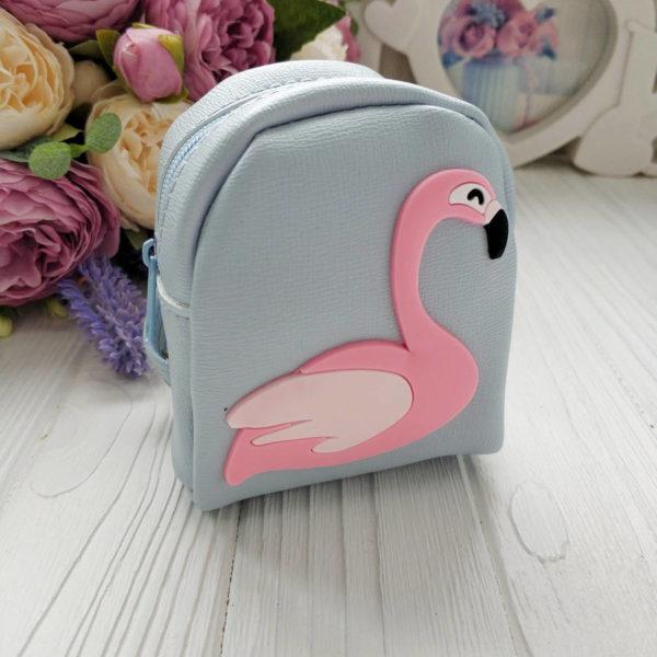 рюкзак фламинго голубой