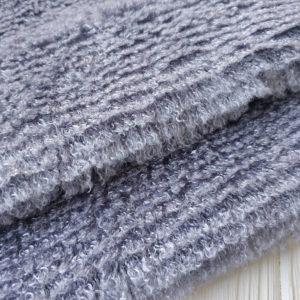 трикотаж мохнатый серый
