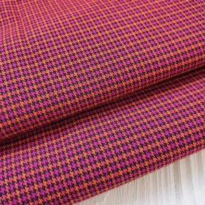 ткань костюмная лапка малиново-оранжевый
