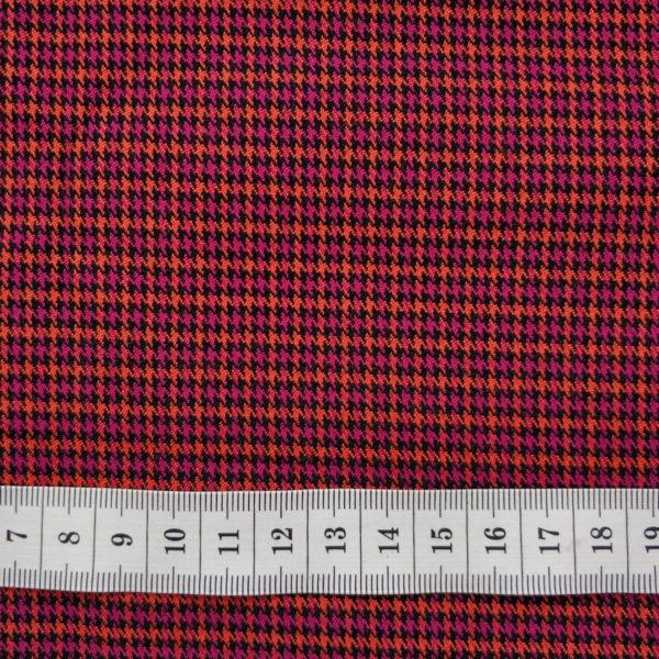 ткань костюмная лапка малиново-оранжевый с линейкой