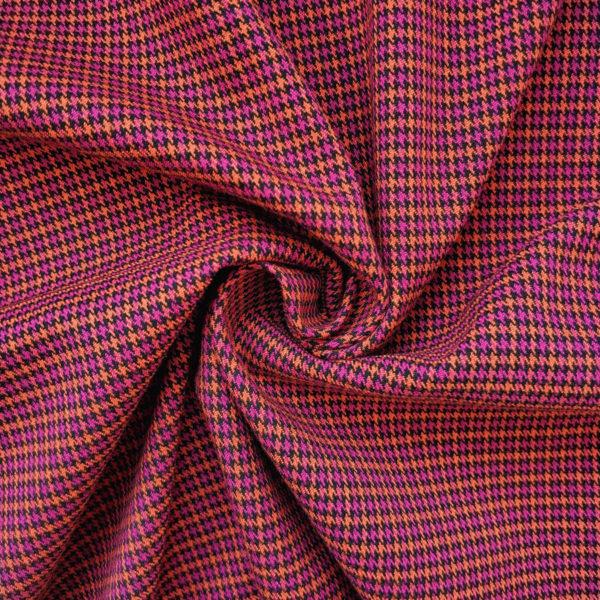 ткань костюмная лапка малиново-оранжевый2