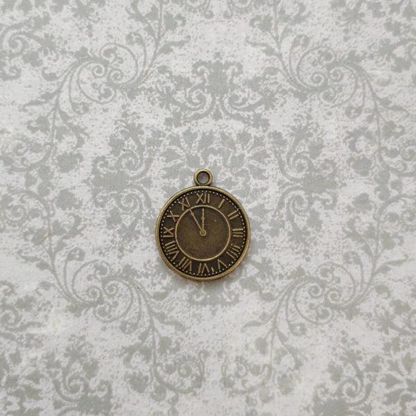подвеска часы бронза